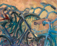 Vélos hollandais 100x81 cm