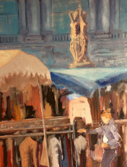 La Comédie (marché) 92x73 cm