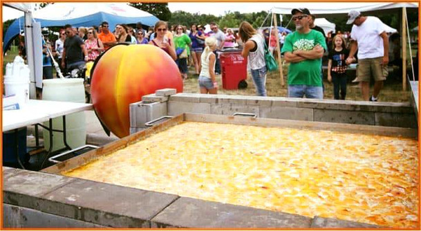 Worlds Largest Peach Cobbler!