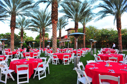 GRove lawn with table seating 2