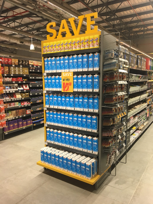 gondola - supermarket shelving