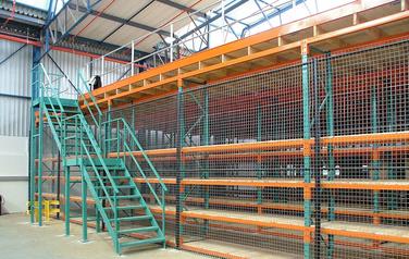 retief sales racking-double volume mezzanine structures