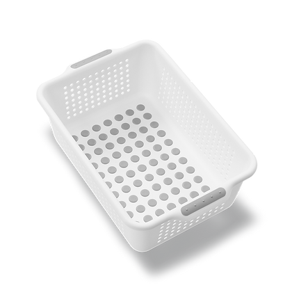 madesmart small basket white 20901