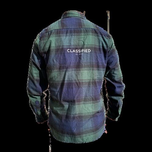 Classified Flannel Green/Blue