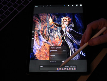 How to remove the background layer for a Procreate animation