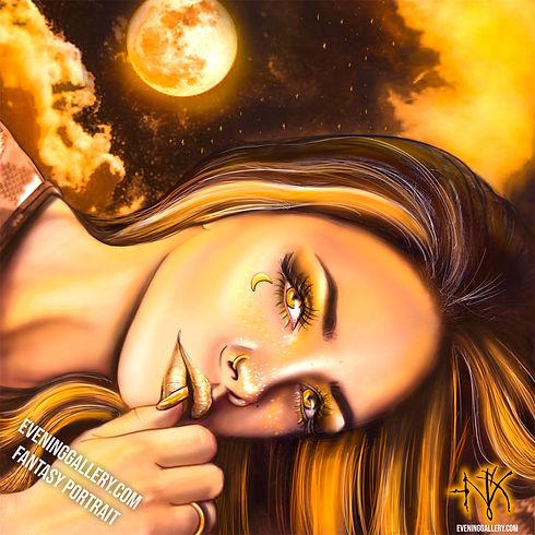 Mandarin Moon Fantasy Portrait
