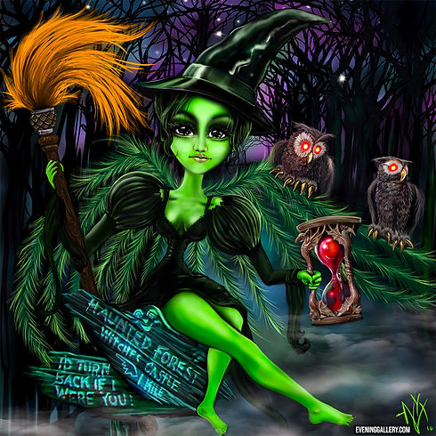 witch pixie digital fantasy painting