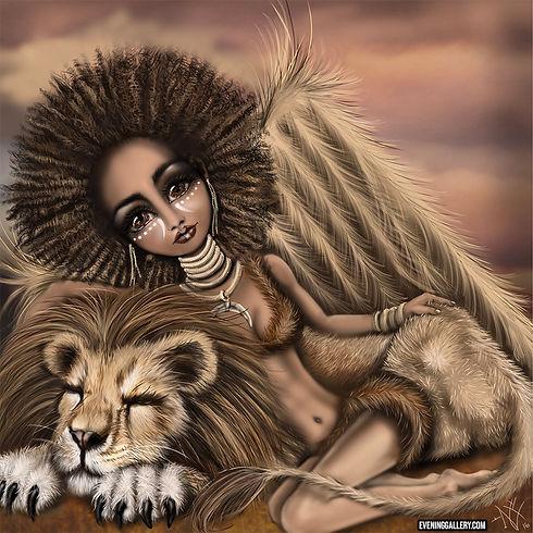 Savanna princess pixie digital painting