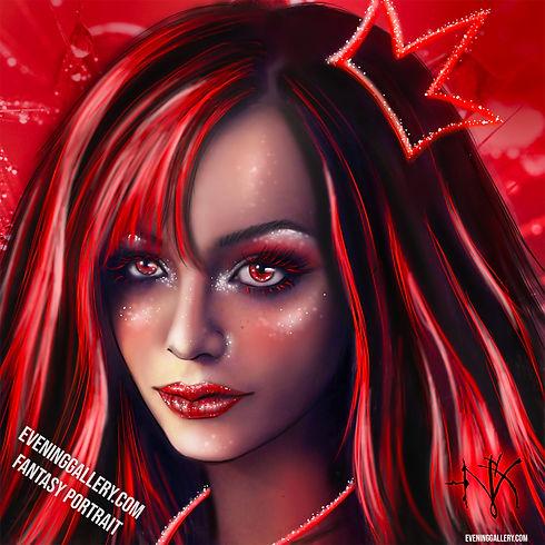 Mys Nyx Fantasy Portrait Crimson