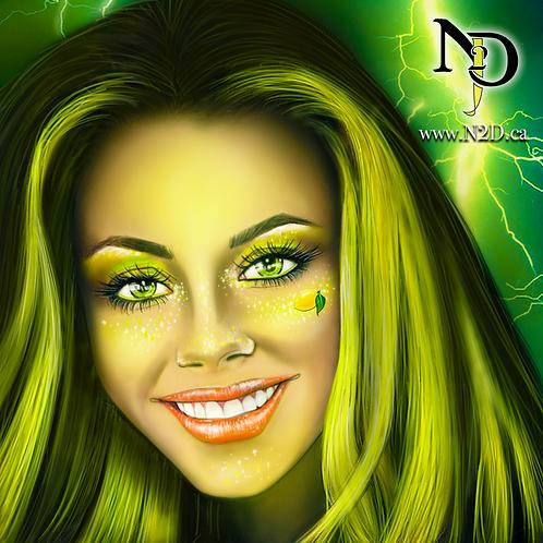 N2D Lightning Lemon Clip In Hair Extensions