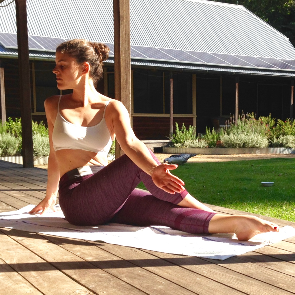 Half Seated Spinal Twist