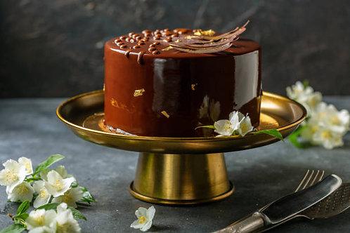 Brownie Mirror Glaze Chocolate Mousse Cake  (1 Kg Rs 2800/-, Minimum Order 1 Kg)