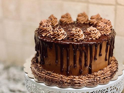 Decadent Celebration Chocolate Cake  (1 Kg Rs 1300/-, Minimum Order 1 Kg)