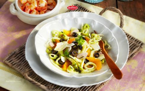 Bertolli_Orangen-Fenchel-Salat mit Garne