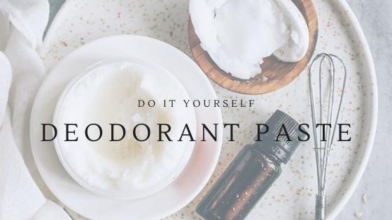 do it yourself deodorant paste