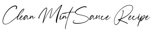 Clean Mint Sauce Recipe Title