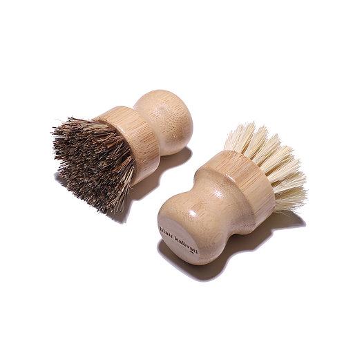 Plant Based Short Handle Brush Pair