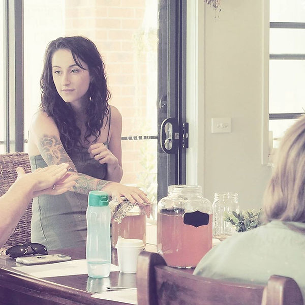 Blair Kalivati - Holistic Coaching TEaching Her Kombucha Workshop