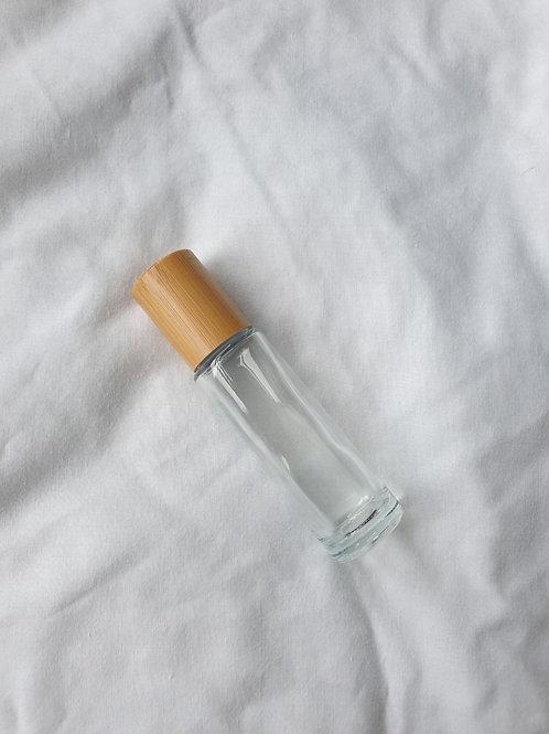 15ML Clear Glass Bamboo Roller Bottle
