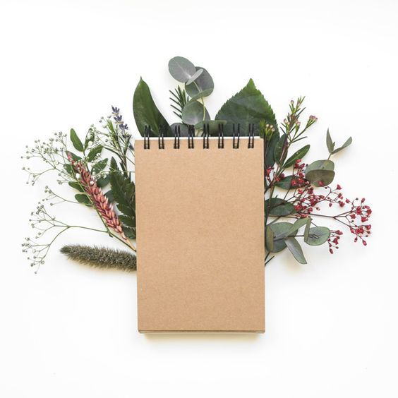 Sustainable, Natural Note Pad & Flora