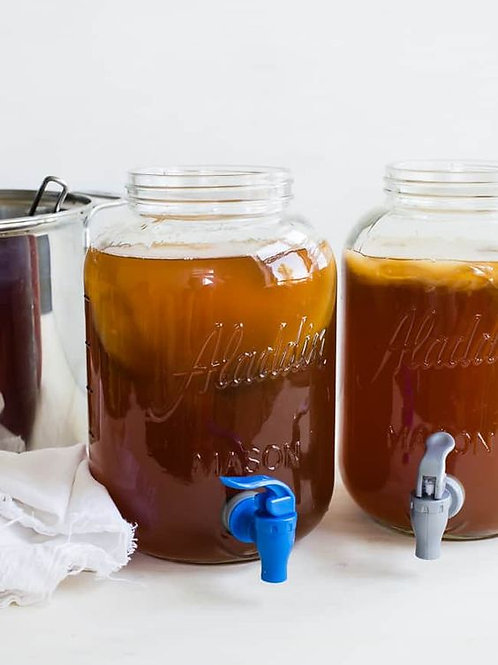 SCOBY and starter tea - how to get started making kombucha - fermenting
