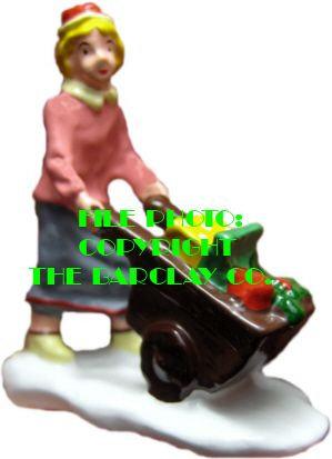 #1314 - Lady Pushing Gift Wagon