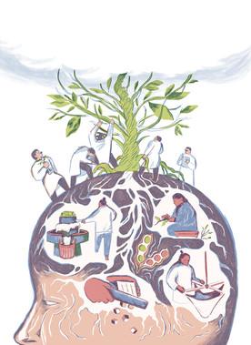 Illustration for Hashulchan Magazine