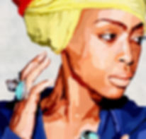 Ilan Adar ,Erykah_Badu,Stained,Printed o