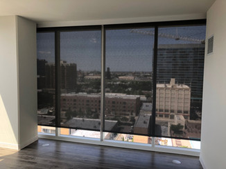 Solar Screen Roller Shades with Fascia