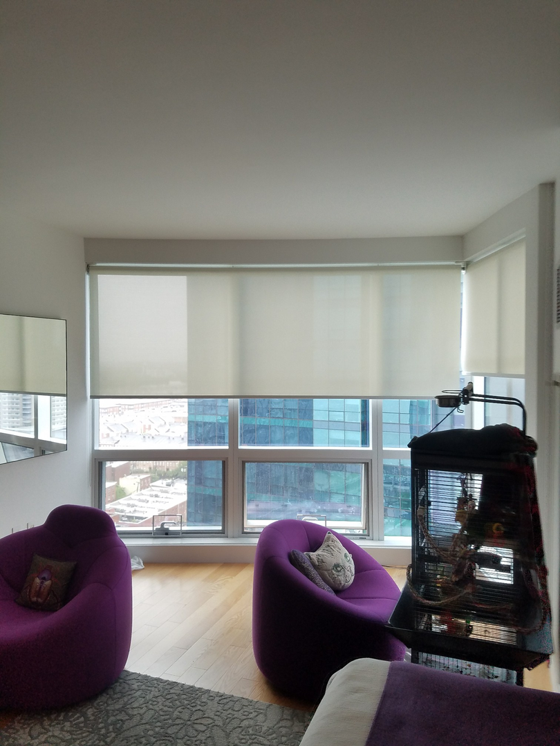 Solar Screen Roller Shades with Fascia (
