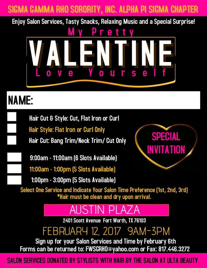My Pretty Valentine Sign Up 2.12.17