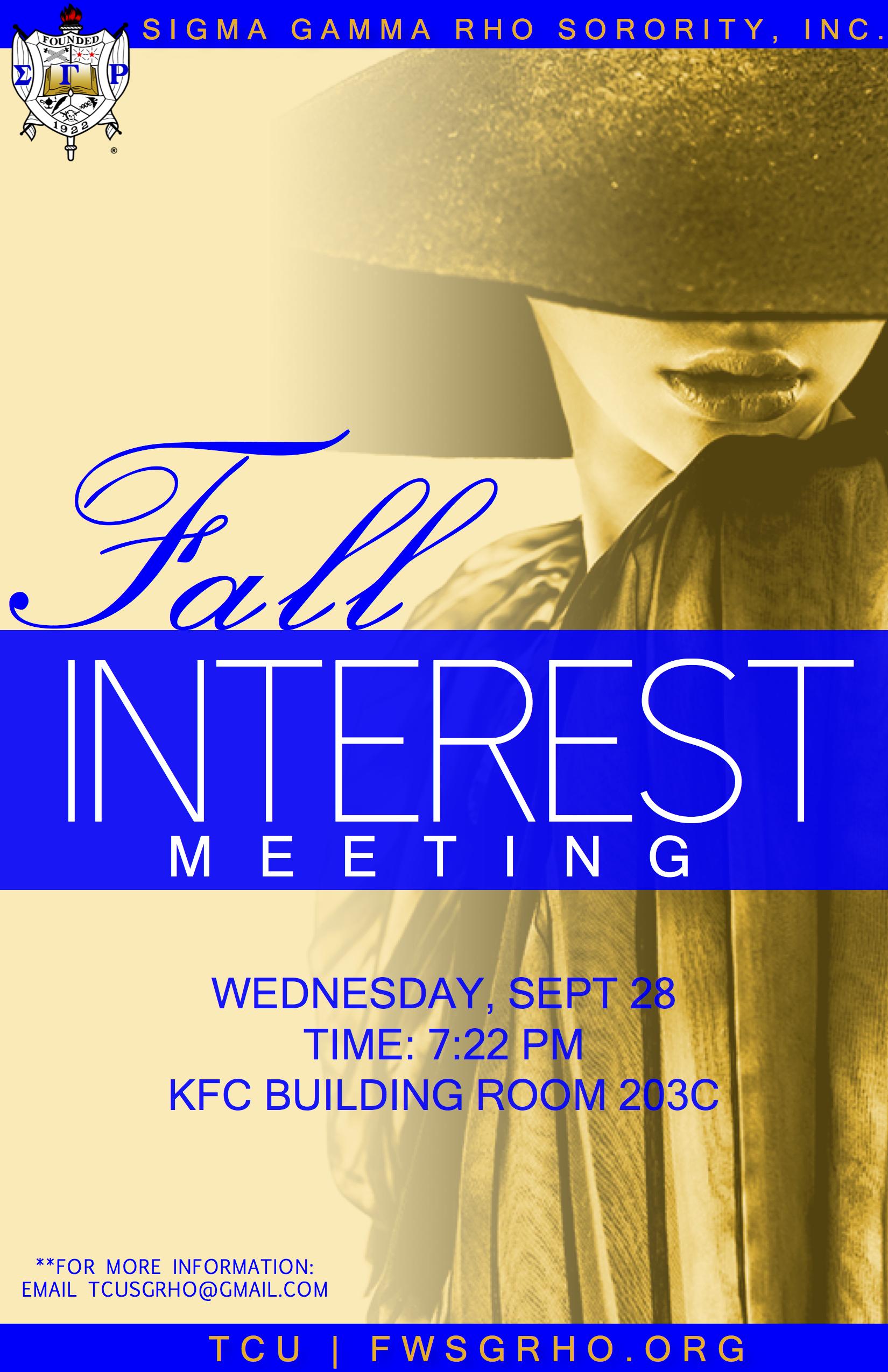 TCU Fall 2016 Interest Meeting