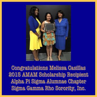 APS 2015 Scholarship Recipient Melissa C