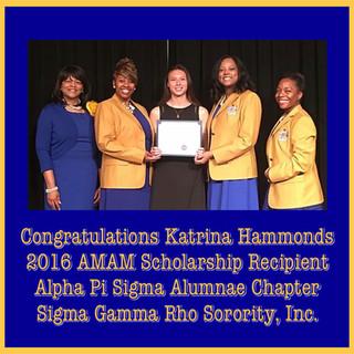 APS 2016 Scholarship Recipient Katrina H