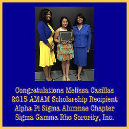 APS 2015 Scholarship Recipient Melissa C
