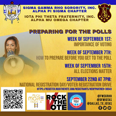 SGRHO AND IOTAS PREPARING FOR THE POLLS