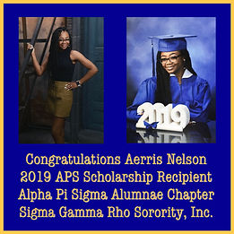 APS 2019 Scholarship Recipient Aerris Ne
