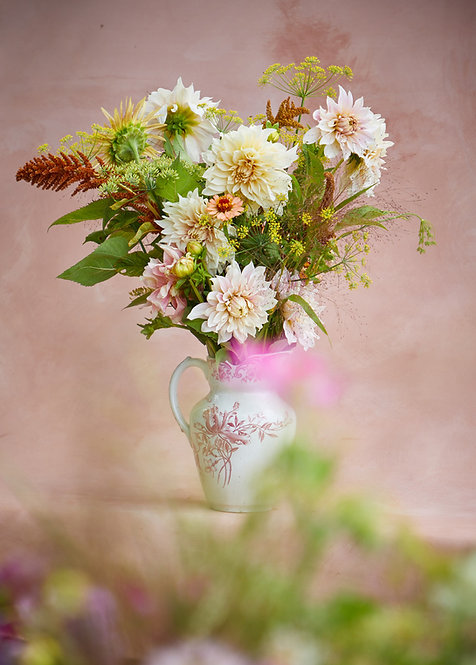 Gavekort, 1 GIGA buket økologiske blomster