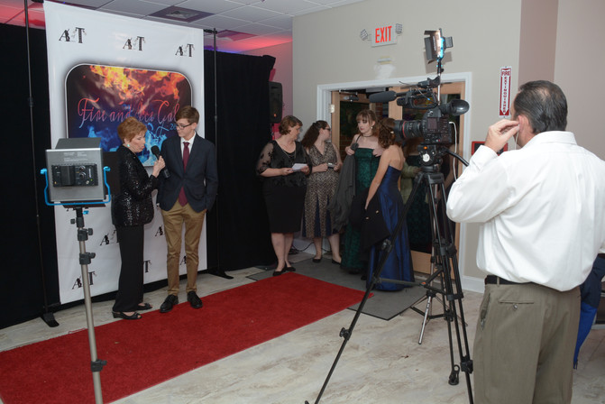 Mrs. Pat Heiss interviewing our red carpet guests!