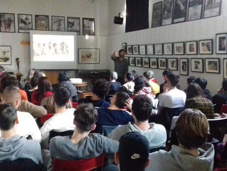 """foto-proiezione commentata della mostra """"American Kids"""" con gli studenti dell'IIS Antonietti  Iseo"""