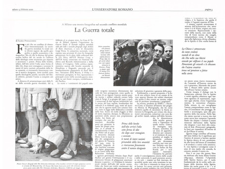 Ilaria Pennacchini scrive della nostra mostra #laGuerraTotale  per L'Osservatore romano