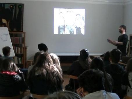 """Foto-proiezione commentata """"Assedio a Madrid"""" con gli studenti della scuola media G.B. Mazzoni"""