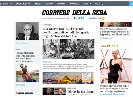 La nostra mostra #laGuerraTotale è nella home page di Corriere.it