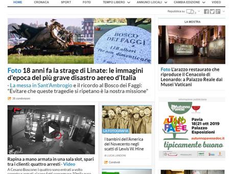 """anche su Repubblica Milano online la nostra mostra """"Lewis Hine. American Kids"""" è in home page"""