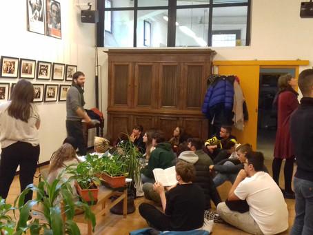 """visita guidata alla mostra """"American Kids"""" con altri studenti dell'Itsos Albe Steiner"""