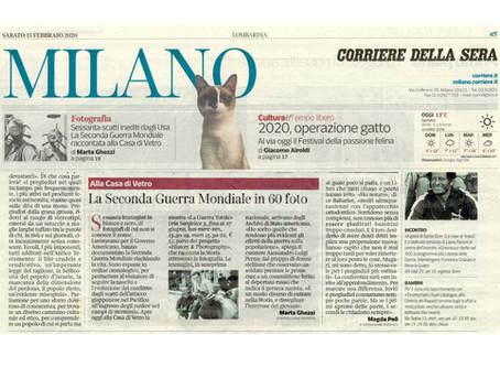 Corriere della Sera in edicola oggi con #laGuerraTotale nella prima pagina dell'edizione Milano