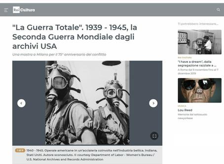 RaiCultura.it segnala la nostra prossima mostra #laGuerraTotale anche in home page
