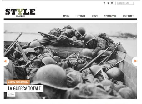 Su Style.it del Corriere della Sera la nostra mostra #laGuerraTotale è anche in home page