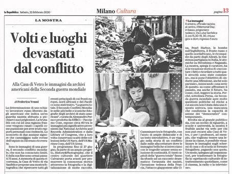 l'articolo di Federica Venni per la Repubblica Milano sulla nostra mostra #laGuerraTotale