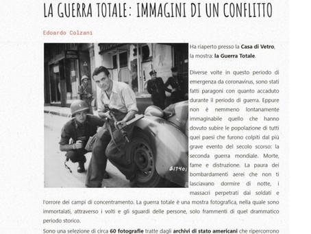 Edoardo Colzani segnala per MilanoFree.it la riapertura della nostra mostra #laGuerraTotale